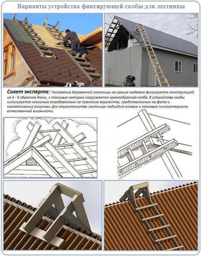 Лестницы своими руками на крышу 85