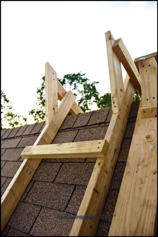 Лестницы своими руками на крышу 90