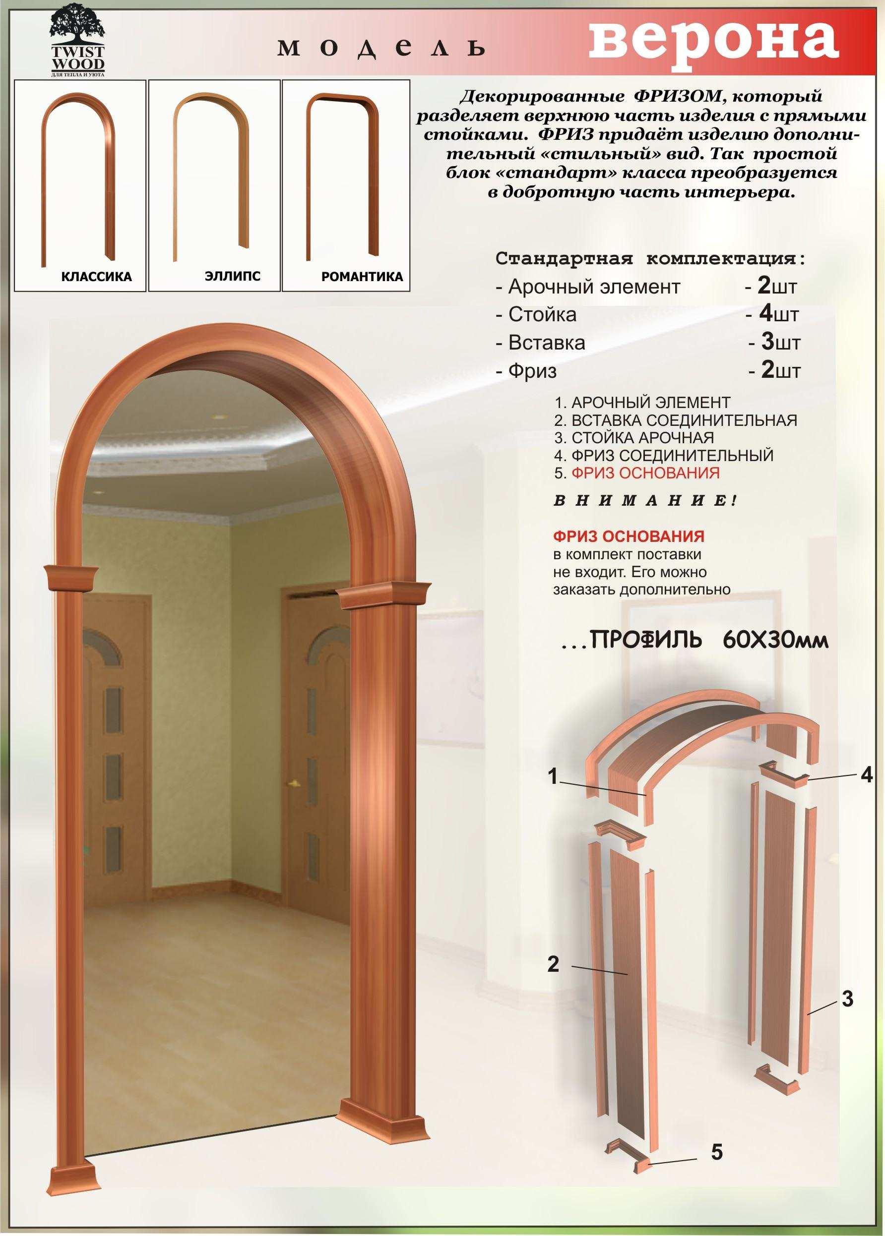 Размеры арки своими руками фото